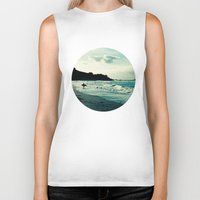 surf Biker Tanks featuring Surf by Hilary Longley