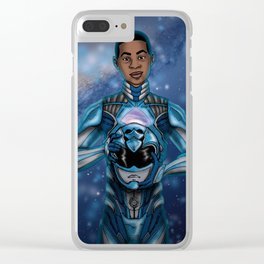 Billy / Blue Ranger Clear iPhone Case