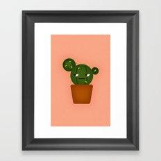 Ball Cactus Plant Framed Art Print