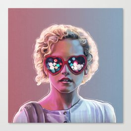 Electrick Girl Canvas Print