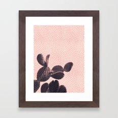 Cactus with Polka Dots Framed Art Print