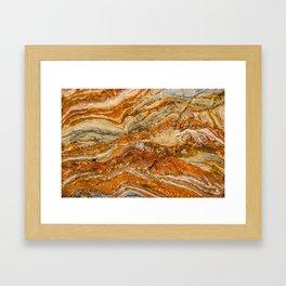Orange Rock Texture Framed Art Print