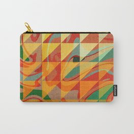 Contemporary Sunny Geometric Design Carry-All Pouch