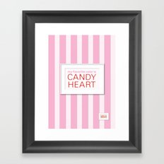 my favorite color is candy heart Framed Art Print