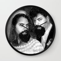 chad wys Wall Clocks featuring chad and chad by Chad M. White