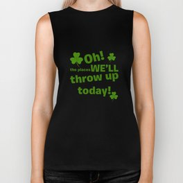 Oh! The Places We'll Throw Up Today! St Patricks Day Biker Tank