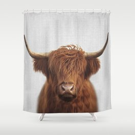 Highland Cow - Colorful Shower Curtain