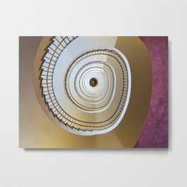On the stairs Metal Print
