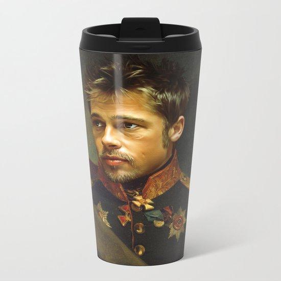 Brad Pitt - replaceface Metal Travel Mug