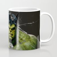 targaryen Mugs featuring Angry HULK  by bimorecreative