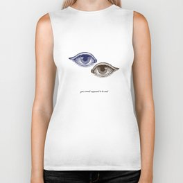 Eyes Both Brown and Blue Biker Tank