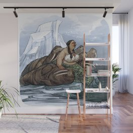 The Arctic Walrus Whisperer Wall Mural