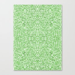 Colouring for Mindlessness Kaleidoscopic in green Canvas Print