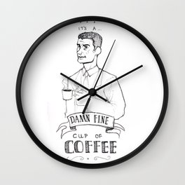 DALE COOPER - A FINE CUP OF COFFEE Wall Clock
