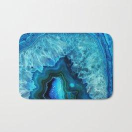 Bright Blue Agate Bath Mat