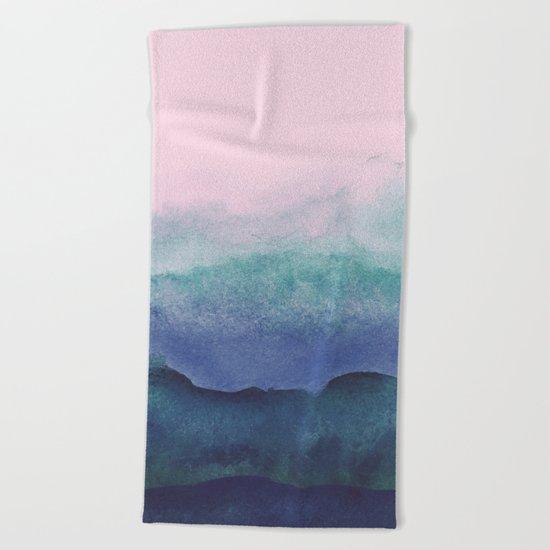 Pastel watercolor gradient (everyday 2/365) Beach Towel
