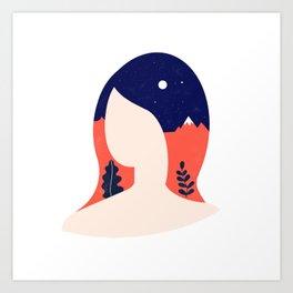 Girl World Art Print