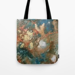 Copper Splash Tote Bag