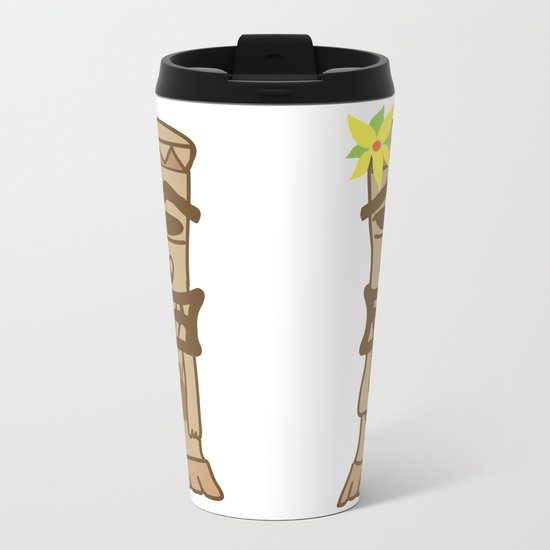 Hippie Island Tiki Dude Metal Travel Mug