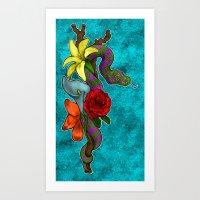 monty python Art Prints featuring Python by Geo Dav
