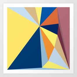 abstract pattern geometric triangle mosaic background low poly style Art Print