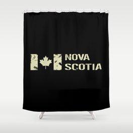 Canadian Flag: Nova Scotia Shower Curtain