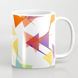 Fractal triangles with unfolding colors Coffee Mug