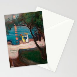 Dance on the Shore, Edvard Munch Stationery Cards
