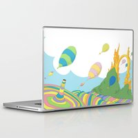 dr seuss Laptop & iPad Skins featuring oh the places you'll go .. dr seuss by studiomarshallarts