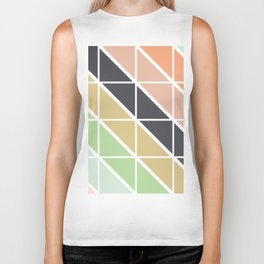 Retro Geometric Triangle Pattern Biker Tank