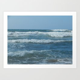 Travel in Greece on the island of Crete mountains and the sea Art Print
