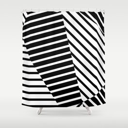 Abstract Striped Triangles Shower Curtain