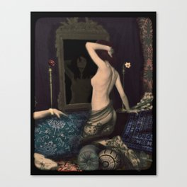 Ania with Narcissus Canvas Print