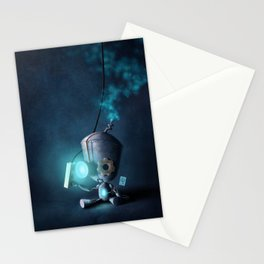 Glow Robot Stationery Cards