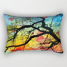 Painting Colorful Landscape Trees Nature Rectangular Pillow