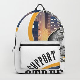 Street Cats Gift, Support Your Local Street Cat Backpack