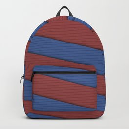Blue and Red Ribbons Backpack