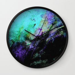 STORMY BLACK v2 Wall Clock