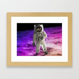 Astronaut Low Poly Framed Art Print