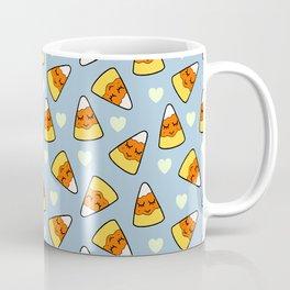 Candy Corn and Heart Pattern Coffee Mug