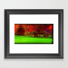 Red Trees three Framed Art Print