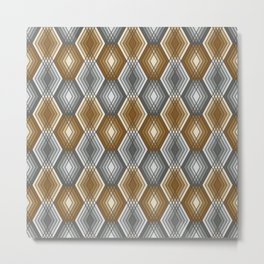 Diamond Outline Pattern Metal Print