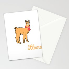 Alpaca Shirt With A Cute Illustration Of Alpaca Llama With A Scarf On His Neck T-shirt Design Stationery Cards