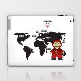 La casa de Papel Money Heist Map Laptop & iPad Skin