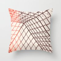 pyramid Throw Pillows featuring pyramid by shannonblue