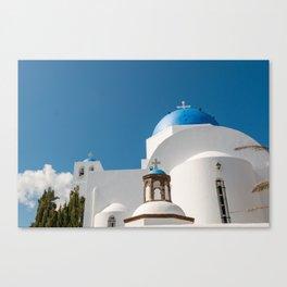 Roof tops of Santorini Canvas Print