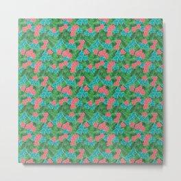 Pretty Pink Tropical Flowers Metal Print