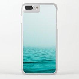 Sea, Ocean, Water, Landscape, Nature, Modern art, Art, Minimal, Wall art Clear iPhone Case