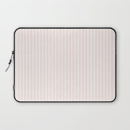 Classic Small Pink Rosebud Pastel Pink French Mattress Ticking Double Stripes Laptop Sleeve