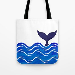 Blue Whale Tail Tote Bag